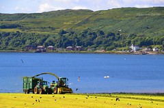 (Zak355) Tags: scotland farm farming scottish tractors silage johndeere kilchattanbay bute rothesay fendt isleofbute
