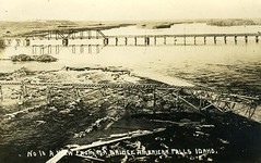 [IDAHO-P-0004] Oregon Shortline bridge - American Falls (waterarchives) Tags: idaho river snakeriver americanfalls railroad bridge realphotopostcardrppc oregonshortlineosl