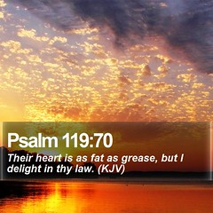 Daily Bible Verse - Psalm 119:70 (daily-bible-verse) Tags: devotion nature god pastor bibleverse picoftheday