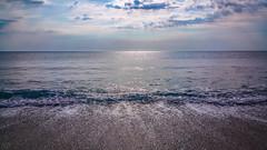 Sea... (Hasan Yuzeir) Tags: blue sea summer sky cloud sun water waves horizon samsung sunny shore rush reflux note4 hasanyuzeir