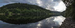 Forest in reflection (Keartona) Tags: ladybower reservoir panorama tranquil peaceful beautiful peakdistrict symmetry reflections calm water forest green summer sky landscape england derbyshire