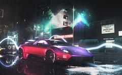 Purple Lamborghini (GL1) Tags: car vehicle street neon lights suicide squad nfs need for speed 2015 2016 lamborghini murcielago lp6704 sv superveloce harley quinn purple night lb performance liberty walk toyo tires speedhunters tuning splashes lines art stance fitment