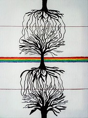 Parallel (aaronquistphoto) Tags: psychedelic psychedelia trees tree roots earth rainbow rainbows abstract sharpies white space neon pastel