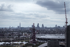 The ArcelorMittal Orbit - sculpture and observation tower (PSY:OPS) Tags: rooftopping skyscraper cityscape london cityoflondon highrise thegherkin canon 700d eos trespass bishopsgate stratford theshard