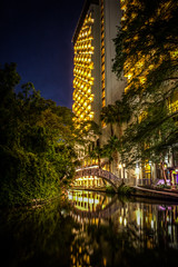 San Antonio Riverwalk at Night (donnieking1811) Tags: texas san antonio riverwalk night lights reflections bridge bridges architecture building buildings exteriors outdoors river rivers canon 60d