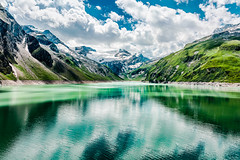 Kaprun Mountain Reservoirs (Tuomo Lindfors) Tags: itvalta austria sterreich topazlabs dxo filmpack adjust kaprun mountainreservoirs reservoir hochgebirgsstauseen stauseemooserboden mooserboden jrvi lake vesi water alpit alps alpen vuori mountain