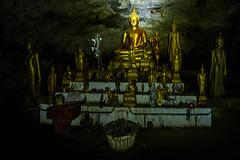 Monument inside Pak Ou Caves (rflexit) Tags: asia laos pak ou caves travel mekong buddha