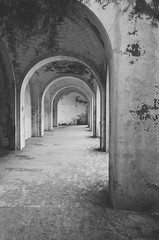 Arches (*M.*) Tags: arches black white monochrome mood architecture archway vanishingpoint