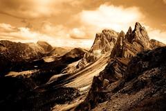 Mount Seceda - Val Gardena  Dolomites Italy (Lior. L) Tags: mountsecedavalgardenadolomitesitaly mount seceda valgardena dolomites italy mountains monochrome nature travel italia hiking landscape