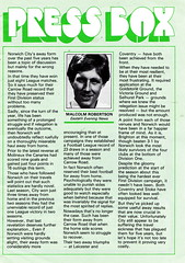 Norwich City vs Arsenal - 1981 - Page 5 (The Sky Strikers) Tags: norwich city arsenal football league division one carrow road official match day magazine 30p