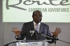 Minister of Tourism, Hon. Edmund Bartlett, addresses the inaugural Island Routes Caribbean Adventures Certified Partners Conference 2016