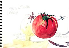 Fête de la Tomate à Couhé (86) (Croctoo) Tags: croctoo croctoofr croquis aquarelle tomate couhé vienne poitoucharentes watercolor