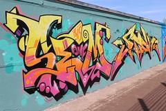 4-Lilienstrae, IWS, Stick One (julia_HalleFotoFan) Tags: streetart graffiti stick halleneustadt hallesaale sachsenanhalt wandgestaltung stickone iwscrew legalewandgestaltung