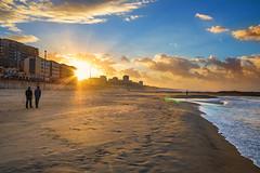 Walk With Me... Again (Yacine Sichaib) Tags: winter sunset sea sky seascape beach me sunshine landscape algeria sand mediterranean with brother walk again waterscape boumerdes