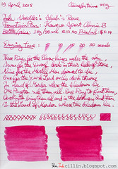 Noodler's Shah's Rose on Clairefontaine (Peninkcillin) Tags: pink red classic fountain sport rose pen ink handwriting paper review magenta fountainpen broad nib cursive shahs eyedropper noodlers clairefontaine kaweco redink noodlersink kawecosport magentaink cursivehandwriting 90g broadnib clairefontainepaper eyedropperfountainpen kawecosportclassic kawecofountainpen kawecosportfountainpen eyedropperconversion kawecosportclassicfountainpen clairefontaine90gpaper noodlersinkreview redinkreview noodlersshahsrose magentainkreview roseinkreview noodlersshahsroseinkreview noodlersshahsroseink shahsroseink shahsroseinkreview shahsrose