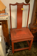 """Red Chinese Lacquered Chair, Good Condition • <a style=""""font-size:0.8em;"""" href=""""http://www.flickr.com/photos/51721355@N02/17842752354/"""" target=""""_blank"""">View on Flickr</a>"""