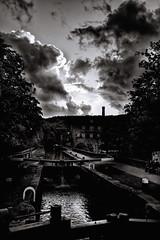 EVERY-CLOUD (dm07images) Tags: bridge white black canal fuji lock hebden x100s dm07imagescom