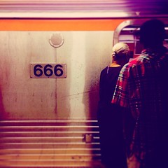 For that Commute From Hell. #hell #commuting #666 #theroadtohell #badcommute #satan #train #satanismymotorcar #nowboarding #subway #underground #underworld #devil #devilish #gothart #goth #dreams #blackandwhite #monotone #metal #urban #city #car #afterlif (artofmarabelle) Tags: cameraphone city urban philadelphia car metal train underground subway square death nashville hell goth 666 squareformat dreams satan devil underworld devilish broadstreet afterlife gothart heavenandhell theroadtohell badcommute nowboarding commutinghell iphoneography instagramapp uploaded:by=instagram satanismymotorcar