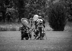 Pep Talk 158/365 (Watermarq Design) Tags: friends blackandwhite sports team friendship pentax lacrosse teammates encouragement youthsports 365project