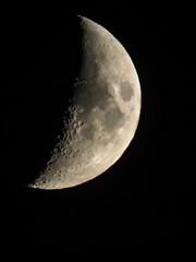 Moon portrait  Canon PowerShot SX60 HS Exposure  Handheld snapshot (eagle1effi) Tags: moon explore tender onexplore 364 weich sanft explored inexplore scoutexplore eagle1effi sx60 closetoreality