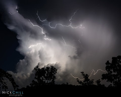 Nature's Light Show (Nick Chill Photography) Tags: sky storm weather clouds thunderstorm lightning stockimage