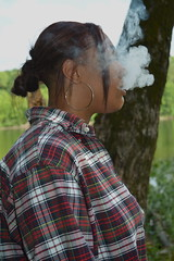 'Cloudy Mind' (miranda.valenti12) Tags: trees wild cloud mist tree green face clouds forest felicia outside outdoors woods cloudy smoke smoking bark mind greenery wilderness plaid sideways fee