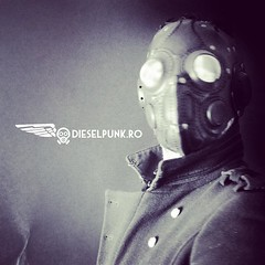 We have a new art deco inspired logo. #Cyberpunk #CyberGoth #postapocalyptic #postapocalypse #steampunk #steampunkmask #leathermask #handmade #LARP #dieselpunk #leather #Darkart #costume #burningman #costume #respirator (tovlade) Tags: black girl face make up leather punk hand mask goth goggles made doctor cyber cybergoth cyberpunk plague larp steampunk postapocalyptic postapocalypse dieselpunk