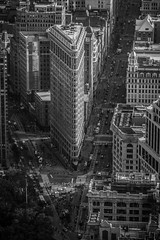Flatiron (Piotr_PopUp) Tags: flatiron 5thavenue manhattan broadway nyc us usa fromabove buildings empirestatebuilding architecture blackandwhite blackwhite bw mono monochrome newyorkcity cityscape city urban