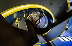 Stairway Series. Fundacin Telefnica (Madrid) IV (Carlos Sobrino) Tags: nikon madrid stairway geometrical architecture csobrino flickelite