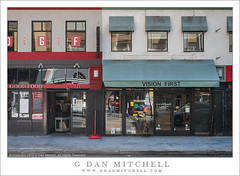 Storefronts, Reflections (G Dan Mitchell) Tags: sanfrancisco california street urban usa america reflections landscape awning photography downtown north business sidewalk shops storefronts goodfood kearny visionfirst