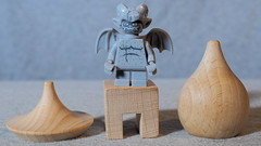 The gargoyle (micro.burst) Tags: home toy lego gargoyle olympusem10 olympusviewer3