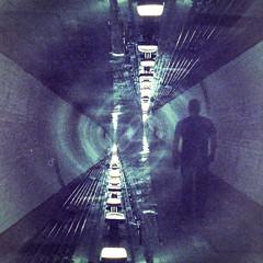 Infinite 9 (Alistair Peck) Tags: infite perspective diagonal convergence converging doubleexposure film canona1 fd analogue oldskool tunnel london infinite