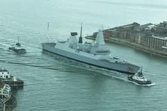 HMS Dragon Entering Portsmouth Harbour (ejwwest) Tags: sea tower ship d navy class quay destroyer solent portsmouth spinnaker englishchannel southsea dockyard gunwharf spitfort