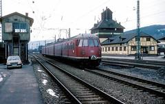 456 407  Mosbach  29.01.84 (w. + h. brutzer) Tags: analog train germany deutschland nikon eisenbahn railway zug trains db 456 mosbach eisenbahnen triebwagen triebzug et56 triebzge webru