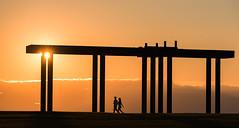 Walk the Walk (llabe) Tags: chambersbay walking couple sunset universityplace washington nikon d750