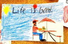 Life is Good (e r j k . a m e r j k a) Tags: pennsylvania allegheny northfayette fiveguys handwritten drawing life whimsy burgers lincolnhighway us30 us22 i376pa erjkprunczyk