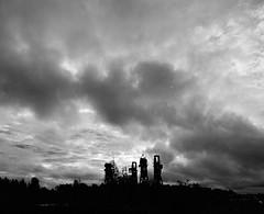 Sawmill Ruins (markorsr) Tags: sawmill ruins xtol clouds xtol11 trix ei320 kodaktrix400 bw blackandwhite landscape mamiya m645 joensuu finland penttil pielisjoki