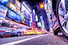 Drive (Blende57) Tags: manhattan nyc newyork street night nightlife cityscape lowangle longexposure nightscape architecture asphalt wideanglephotography