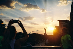 Nike Run Club Kyiv, RunTheSun #2 (the joyrider) Tags: nike film kodak 35mm training running club nrc ntc sun sunrise ukraine kyiv runthesun