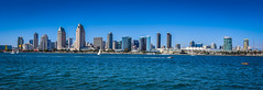 Panoramic view of San Diego City Skyline from Coronado CA (mbell1975) Tags: ocean california from ca city panorama usa building water skyline america buildings island bay us office san waterfront unitedstates pacific sandiego cove pano shoreline diego panoramic calif cal american vista inlet coronado cityskyline skyscapper skyscappers