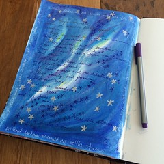 Journaling August 2, 2016 (Kathryn Zbrzezny) Tags: journal artjournal artjournaling visualjournal visualdiary pastels write handwriting