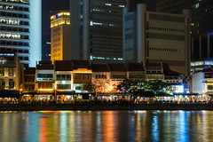View across the Singapore River from the Raffles Landing Site