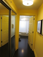 The Hallway to the Bathroom in My Suite at the Mayton Inn -- Cary, NC, July 3, 2016 (baseballoogie) Tags: maytoninn nc northcarolina hotel room hotelroom 070316 baseball16 canonpowershotsx30is cary