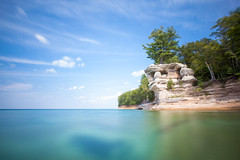 Chapel Revisit (Rudy Malmquist) Tags: pictured rocks chapel rock lake superior great lakes upper peninsula up national lakeshore park chapelrock nd neutral density long exposure