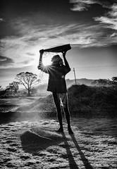 Man Cleaning Rice. (Padmanabhan Rangarajan) Tags: araku village rural india cleaning rice fields work labour valley vizag