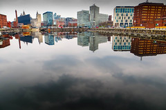Salthouse Dock, Liverpool (stephenbryan825) Tags: albertdock liverpool mannisland portofliverpoolbuilding royalliverbuilding boats buildings dock reflection selects water