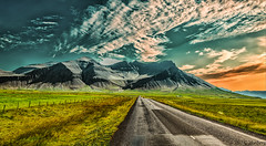 Hafursfell, Iceland (jforberg) Tags: 2016 iceland mountain sky sun cloudy cloud road green gress stykkisholmur snfellsnes colorful colors beautiful jonforberg wow
