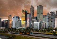 Cityscape of Hong Kong Central (Calim*) Tags: skyscrapers hongkong