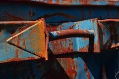 direction blu-orange (gianmaria.colognese) Tags: rust ruggine ornge blu ferro iron arancione triangolo