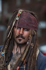 Captain (cowboy72) Tags: captainjacksparrow pirate comiccon yorkcomiccon 135mmf2l godoxad360 portrait